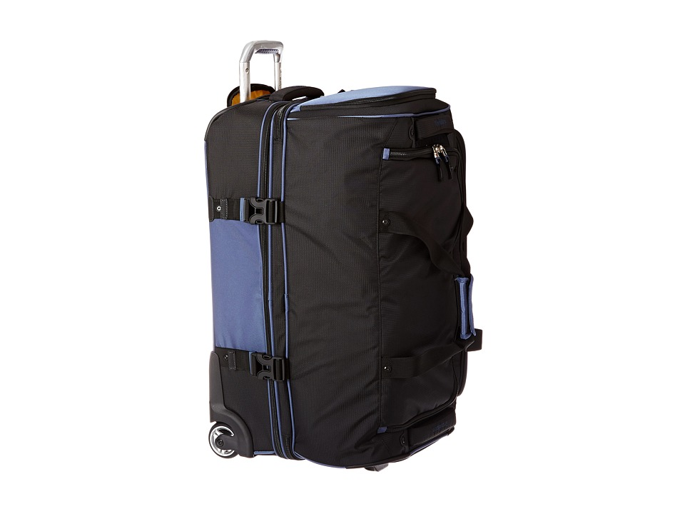 Travelpro - TPro Bold 2.0 - 26 Drop Bottom Rolling Duffel (Black/Navy) Duffel Bags