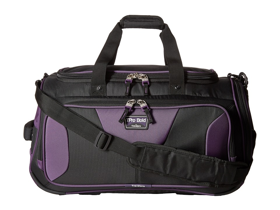 Travelpro - TPro Bold 2.0 - 22 Expandable Duffel Bag (Black/Purple) Duffel Bags