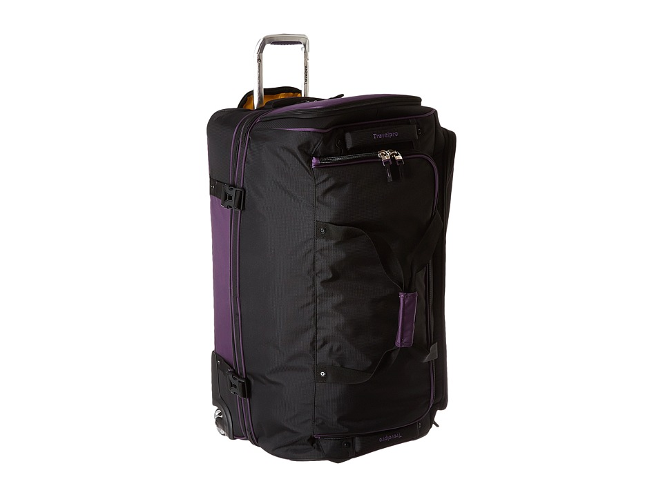 Travelpro - TPro Bold 2.0 - 30 Drop Bottom Rolling Duffel (Black/Purple) Duffel Bags