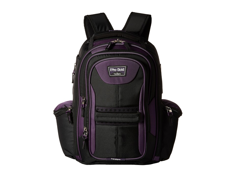 Travelpro - TPro Boldtm 2.0 - Computer Backpack (Black/Purple) Backpack Bags