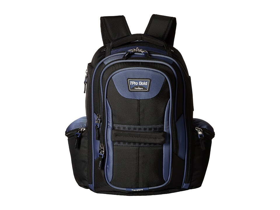 Travelpro - TPro Bold 2.0 - Computer Backpack (Black/Navy) Backpack Bags