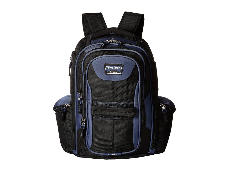 Travelpro - TPro Boldtm 2.0 - Computer Backpack (Black/Navy) Backpack Bags