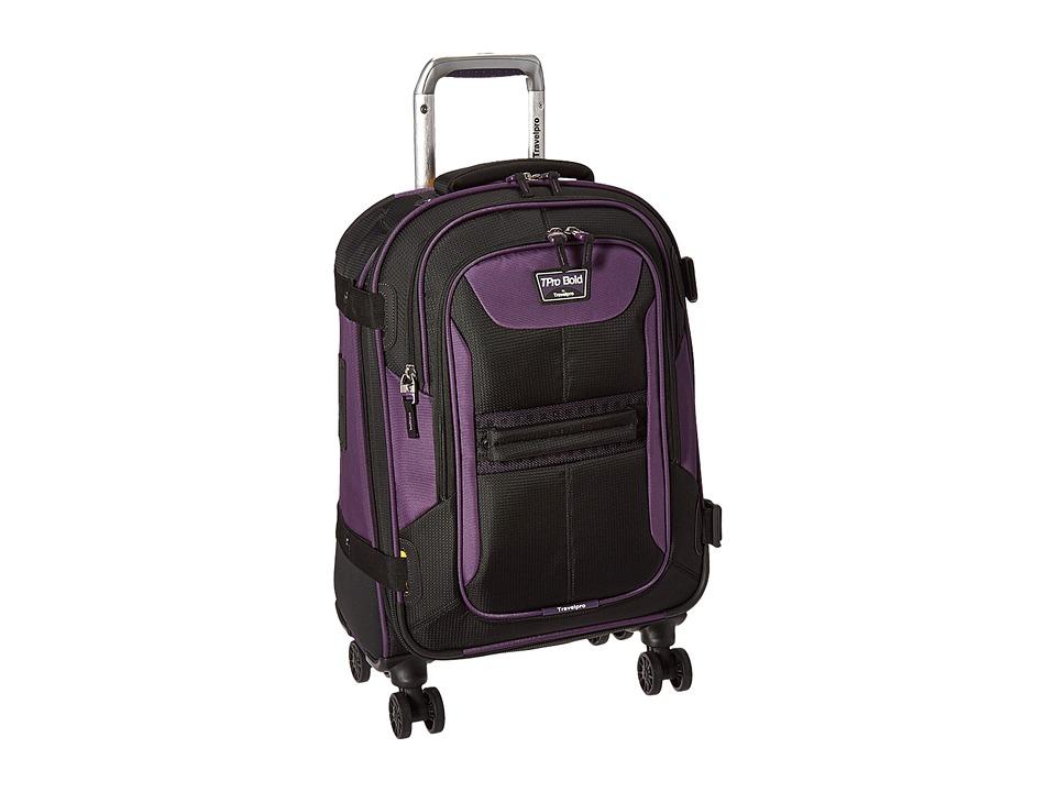 Travelpro TPro Bold 2.0 21 Expandabale Spinner (Black/Purple) Luggage