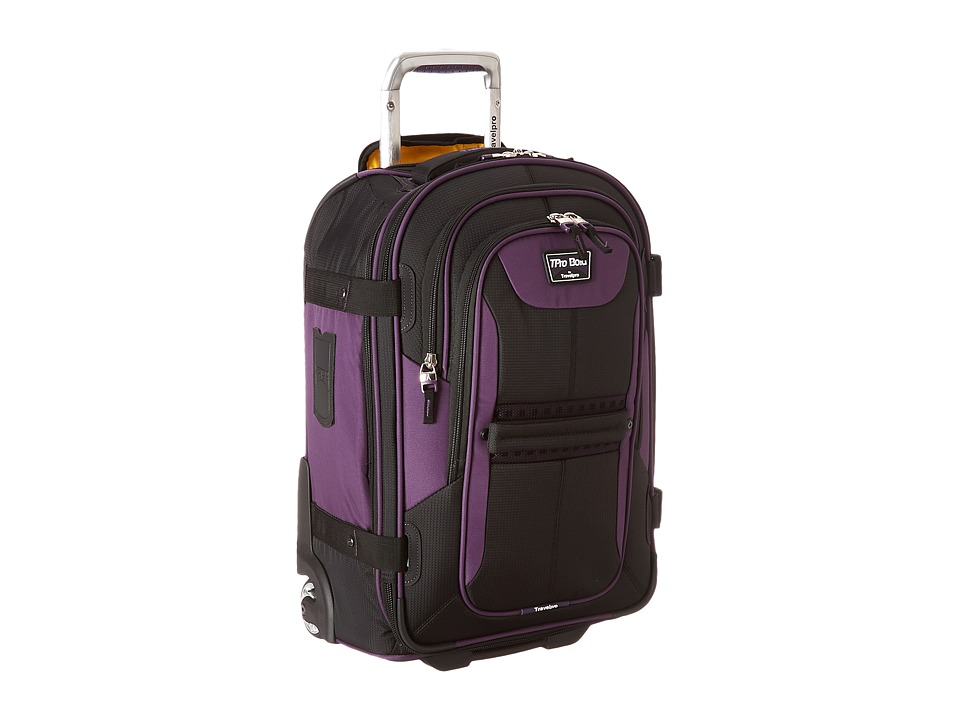 Travelpro TPro Bold 2.0 22 Expandable Rollaboard (Black/Purple) Luggage