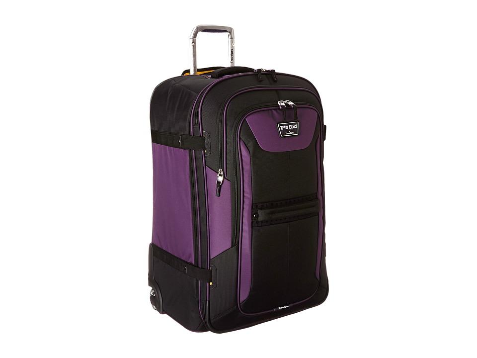 Travelpro TPro Bold 2.0 28 Expandable Rollaboard (Black/Purple) Luggage