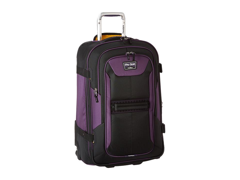 Travelpro TPro Bold 2.0 25 Expandable Rollaboard (Black/Purple) Luggage