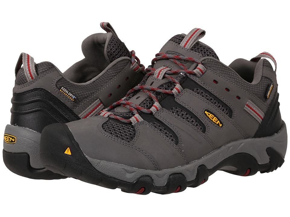 Keen - Koven Low WP (Gargoyle/Red Dahlia) Men