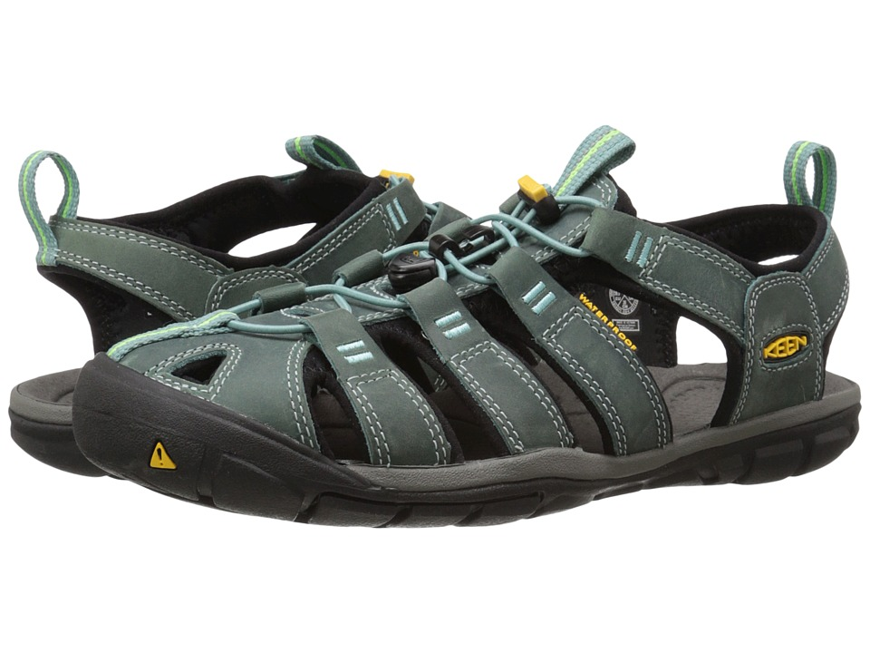 Keen - Clearwater Leather (Mineral Blue/Yellow) Womens Shoes