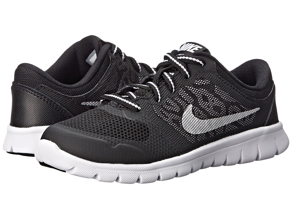Nike Kids Flex 2015 Run (Little Kid) (Wolf Grey/Black/White) Boys Shoes