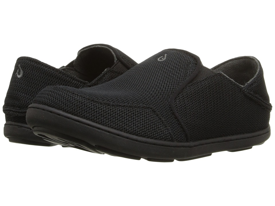 OluKai Kids Nohea Mesh Toddler/Little Kid/Big Kid Black/Black Boys Shoes