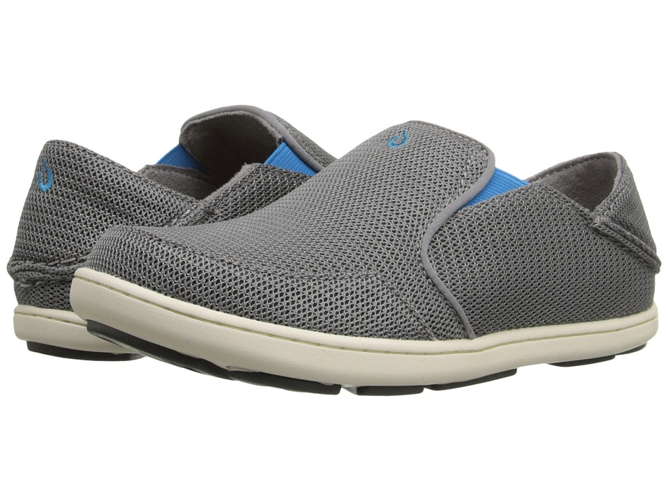 OluKai Kids Nohea Mesh Toddler/Little Kid/Big Kid Grey/Scuba Boys Shoes