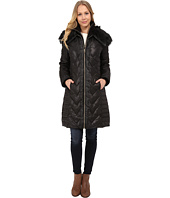 Via Spiga - Zip Front Down Coat w/ Contrast Faux Fur On Collar
