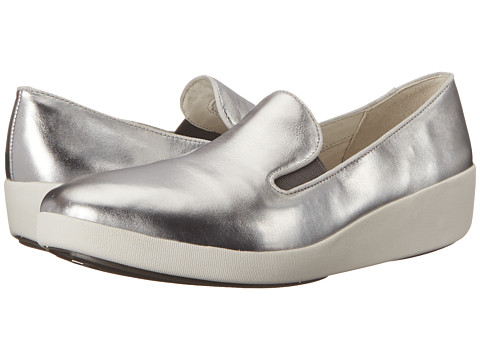 FitFlop F-Pop Skate™ - Silver Leather