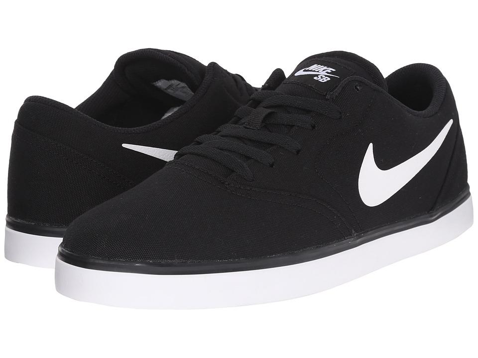 Nike SB Check Canvas Black/White 1 Mens Skate Shoes