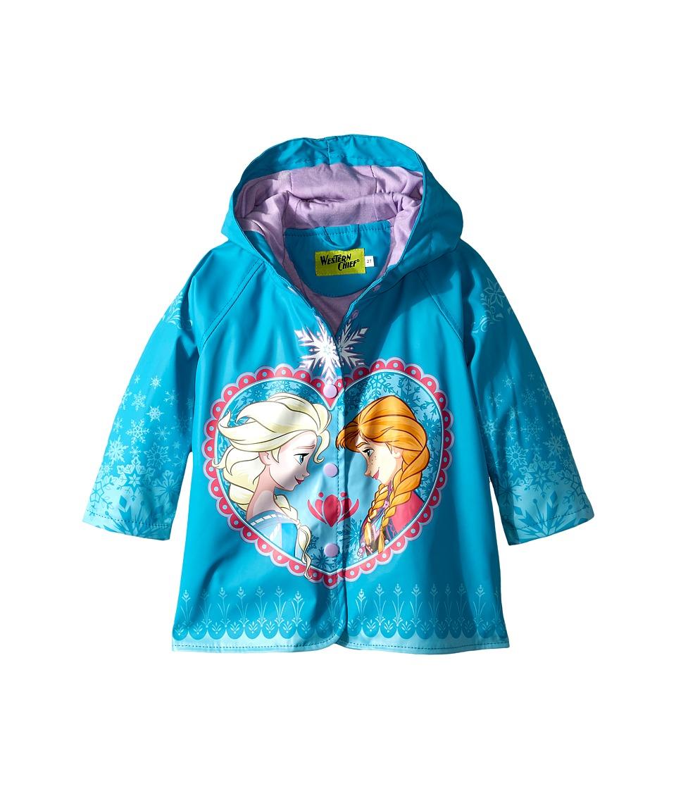 Western Chief Kids Frozen Elsa Anna Rain Coat Toddler/Little Kids Blue Girls Coat