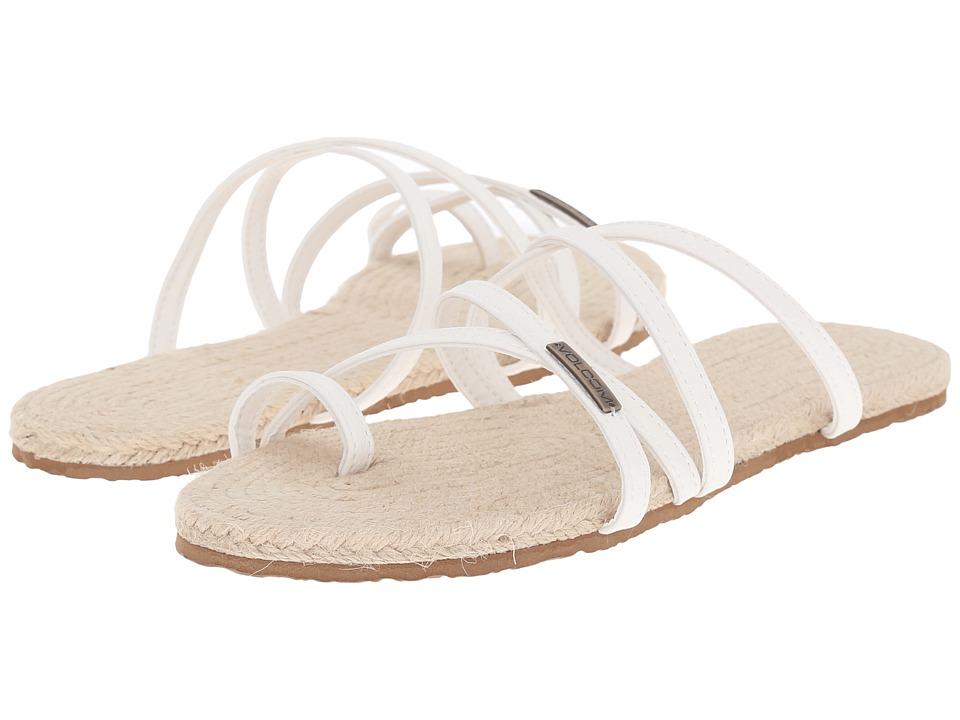 Volcom - Hook It Up Sandal (White) Women