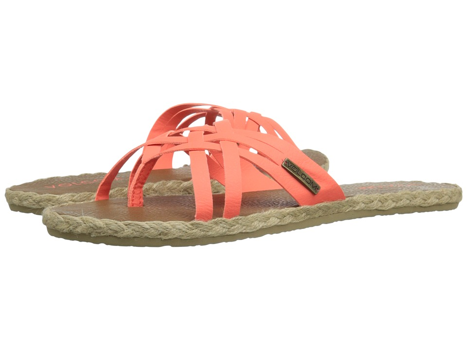 Volcom - Check In Sandal (Electric Coral) Women