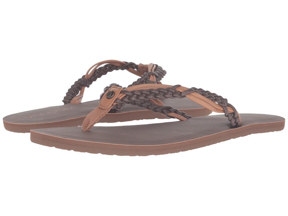 Volcom Tipsy Sandal (Brown Combo) Women