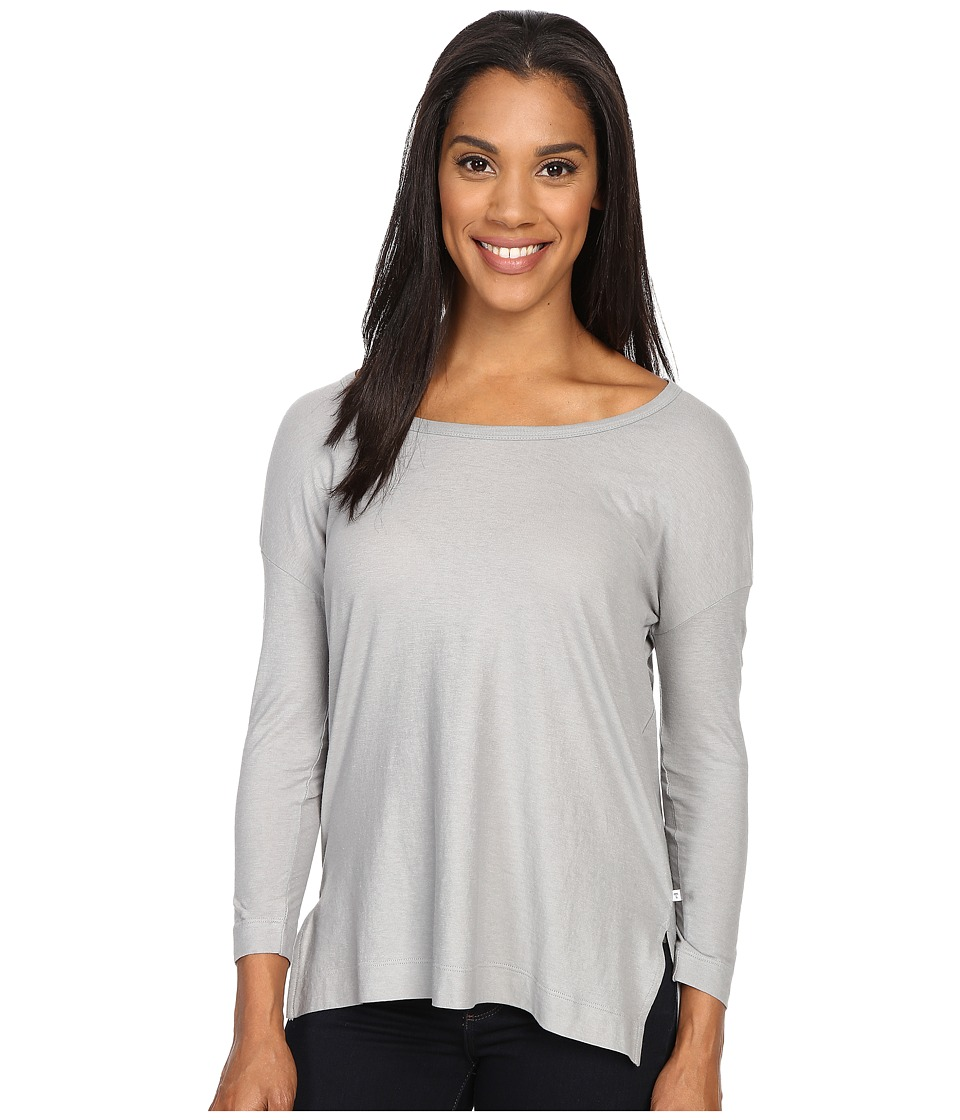 ToadampCo Tissue 3/4 Tee Light Ash Womens Long Sleeve Pullover