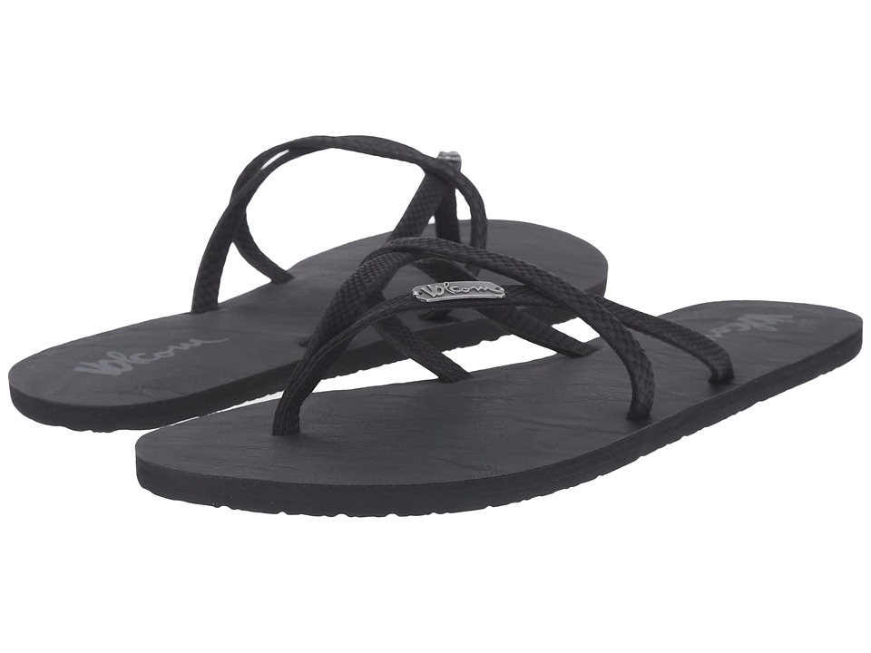 Volcom All Night Long 2 Black Surfer Womens Sandals