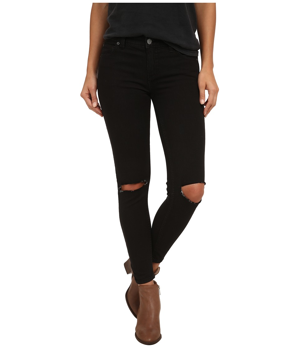 Free People Destroyed Jeans Black Womens Jeans