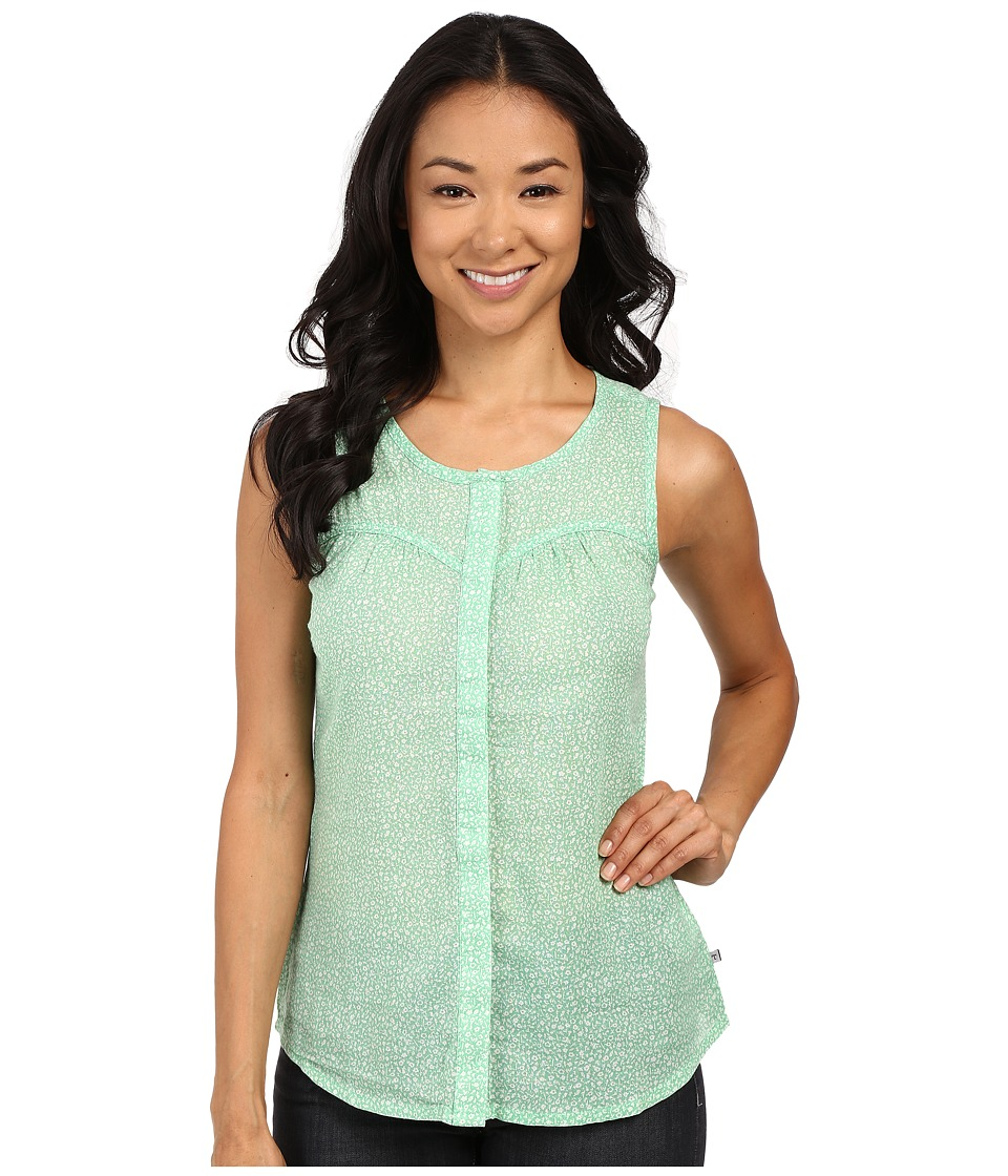 ToadampCo Airbrush Print Tank Top Green Awning Womens Sleeveless