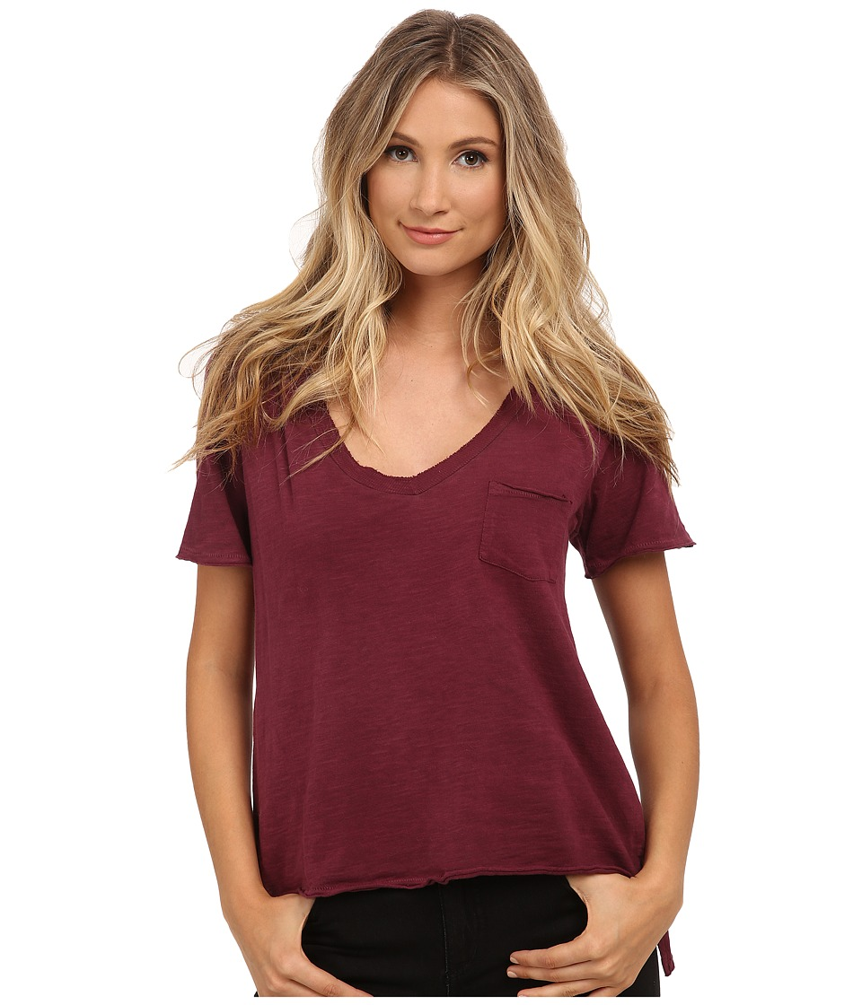 Free People 757 Tee Marsala Womens T Shirt