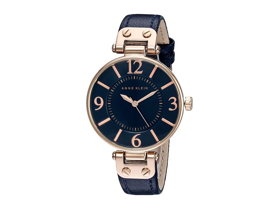 Anne Klein 10 9168RGNV Navy/Rose Gold Tone Watches