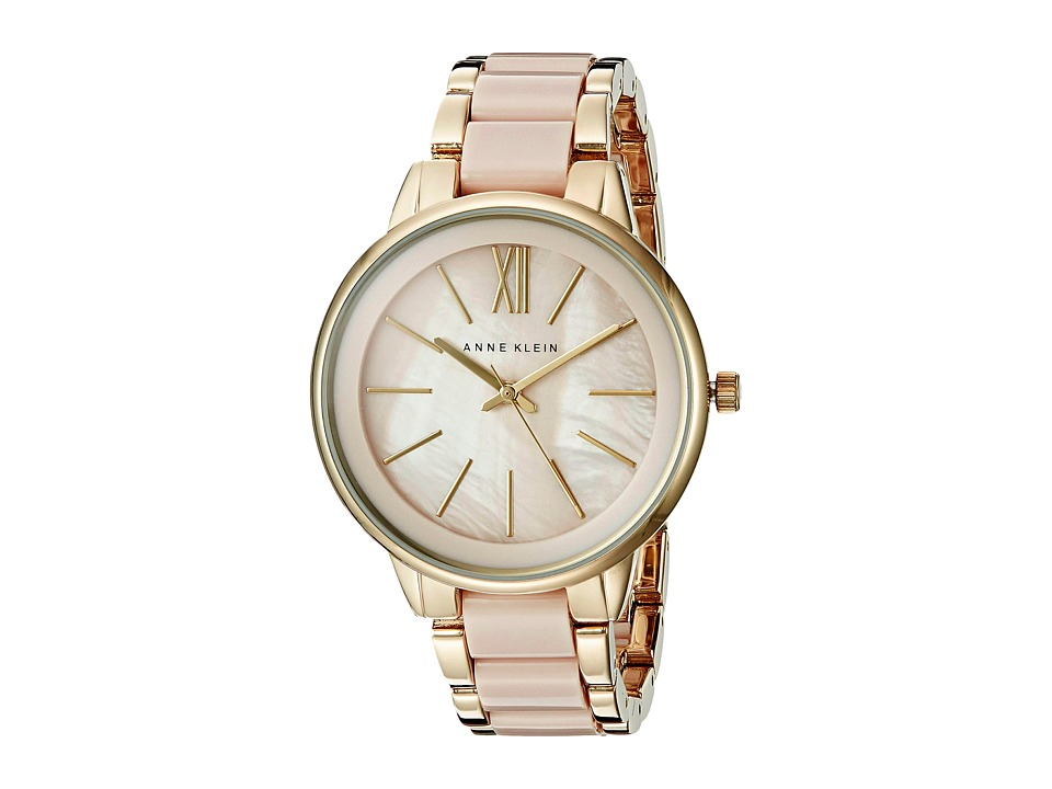 Anne Klein - AK-1412BMGB (Pink/Gold Tone) Watches