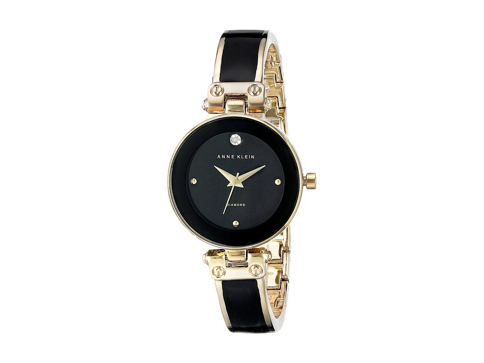Anne Klein - AK-1980BKGB (Black/Gold Tone) Watches