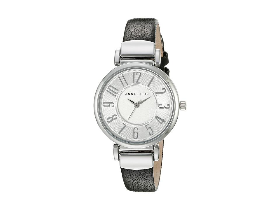 Anne Klein - AK-2157SVBK (Black/Silver Tone) Watches