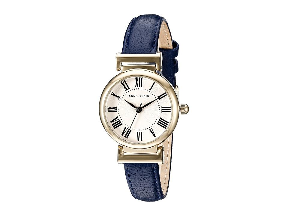 Anne Klein - AK-2246CRNV (Navy/Gold Tone) Watches