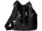 LeSportsac Bucket Bag (Black Crinkle Patent)