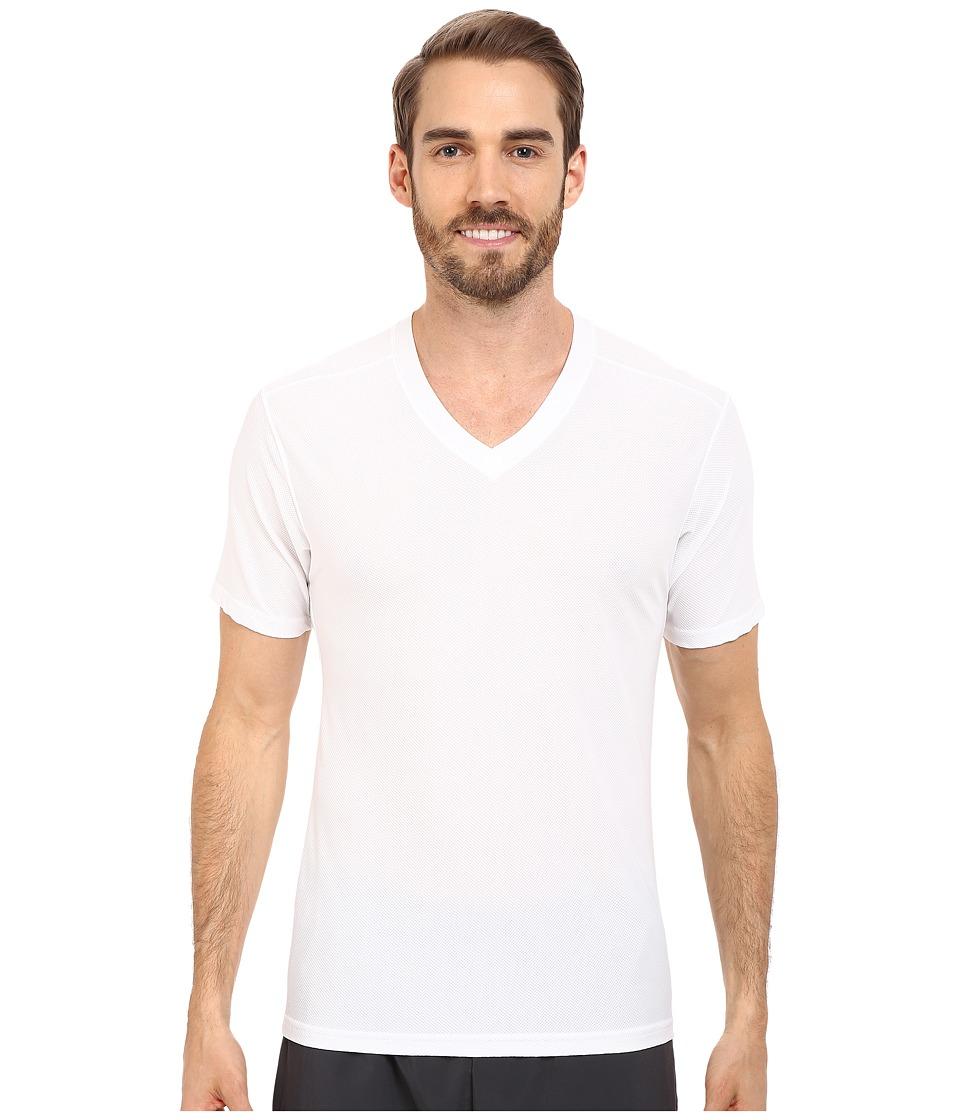 ExOfficio Give-N-Go(r) V-Neck (White) Men's Short Sleeve ...