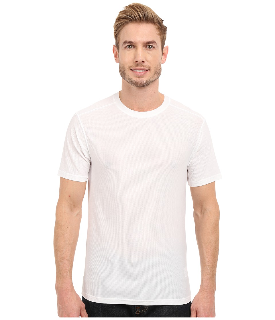 ExOfficio - Give-N-Go(r) Tee (White) Mens Short Sleeve Pullover