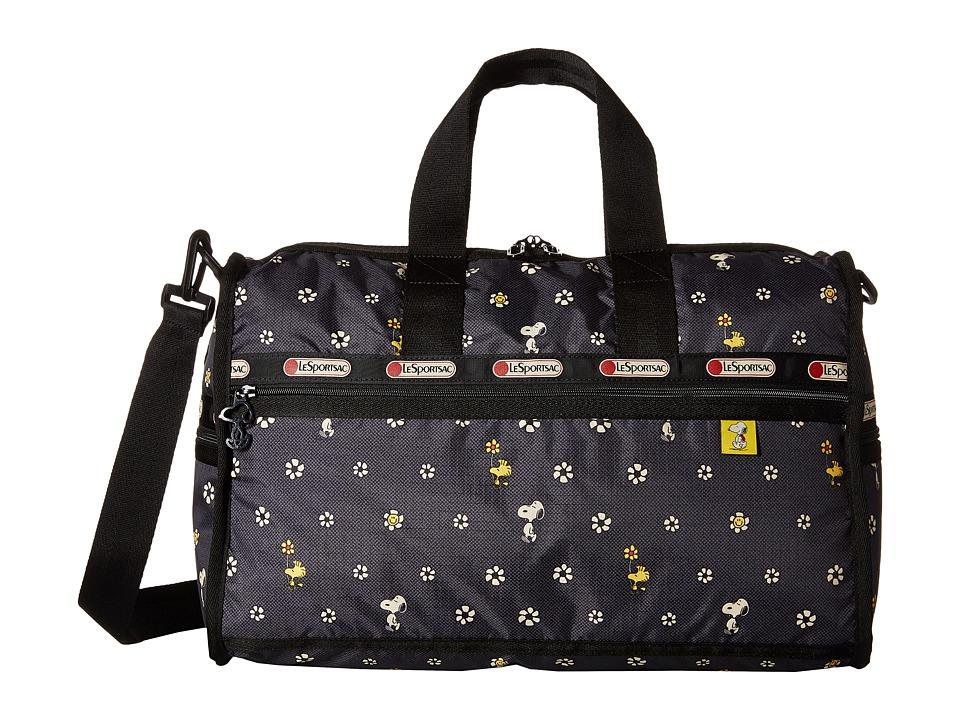 LeSportsac Luggage Medium Weekender Snoopy Daisy Duffel Bags