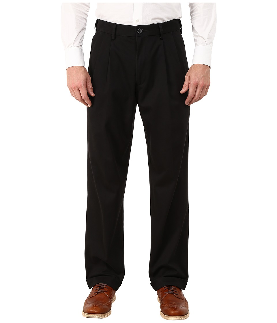Dockers Comfort Khaki Stretch Relaxed Fit Pleated (Black ...