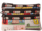 LeSportsac Peanuts 3 Zip Cosmetic (Snoopy Patchwork)