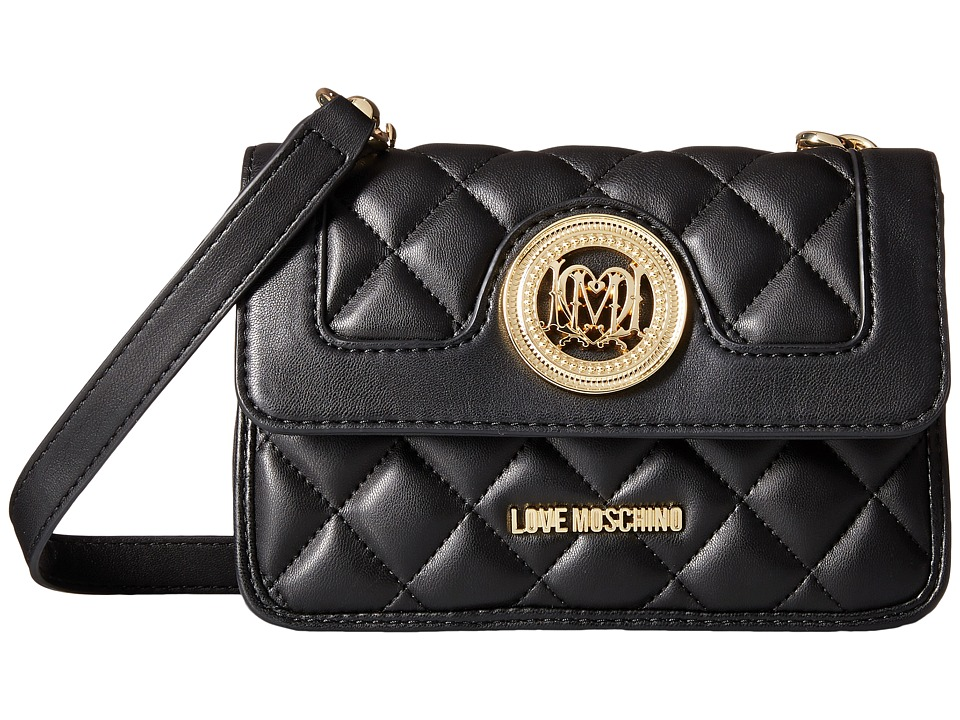 LOVE Moschino - Quilted Crossbody w/ Detachable Wallet (White/Grey) Cross Body Handbags