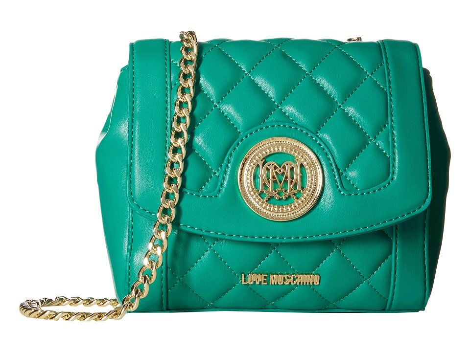 LOVE Moschino - Quilted Little Crossbody (Green) Cross Body Handbags
