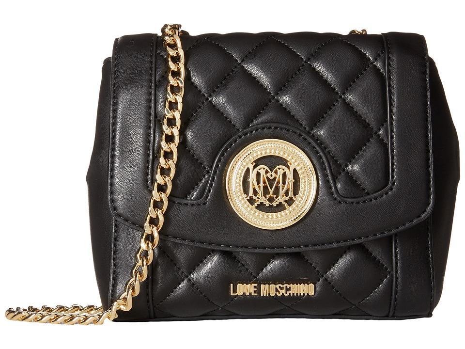 LOVE Moschino - Quilted Little Crossbody (Black) Cross Body Handbags