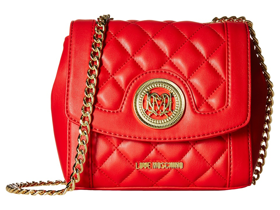 LOVE Moschino - Quilted Little Crossbody (Red) Cross Body Handbags