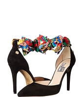 LOVE Moschino - D'Orsay Suede Pump w/ Scarf Tie