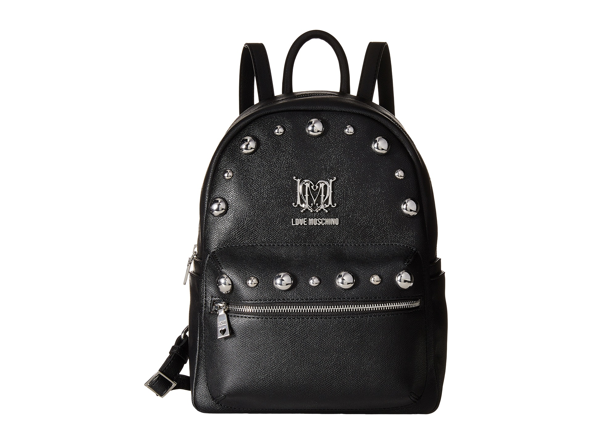 love moschino studs backpack free shipping. Black Bedroom Furniture Sets. Home Design Ideas