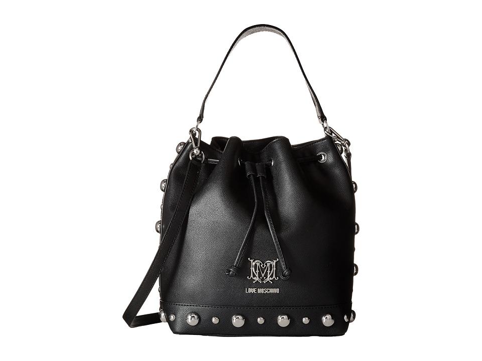 LOVE Moschino - Studs Bucket Bag (Black) Bags