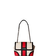 LOVE Moschino - Quilted Studded Flap Bag
