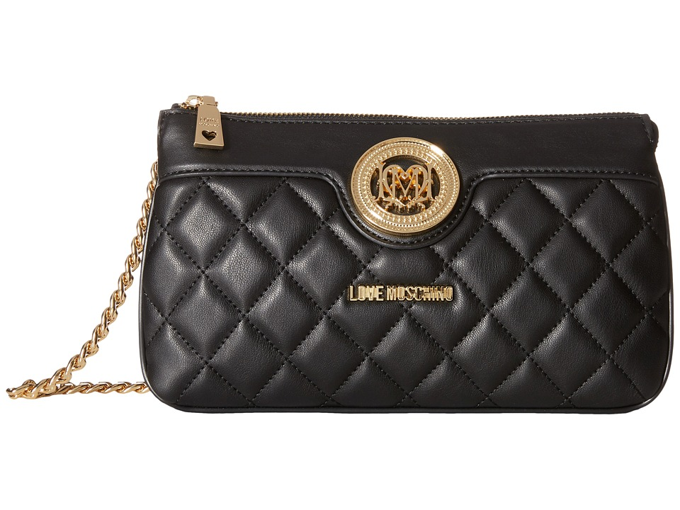 LOVE Moschino - Quilted Evening Bag (Black) Bags