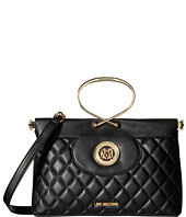 LOVE Moschino - Quilted Flap Bag