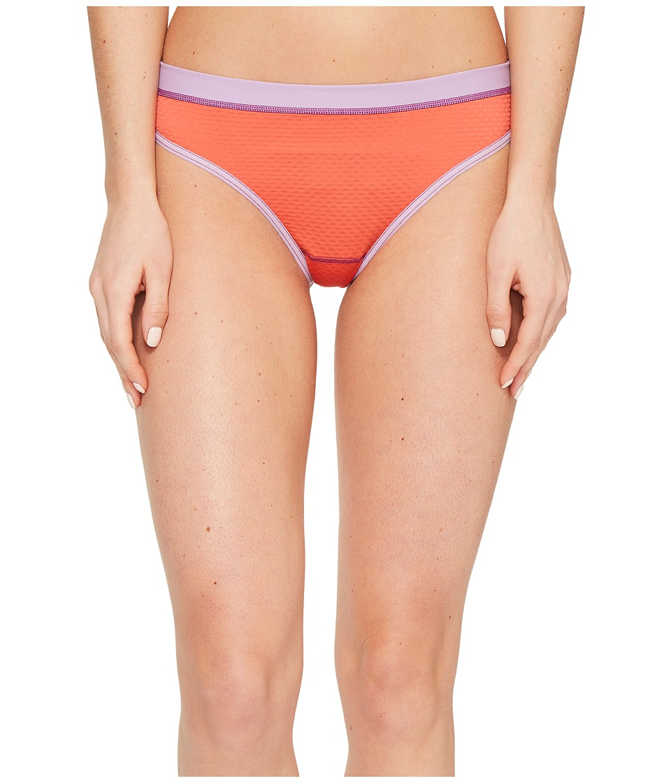 ExOfficio Give-N-Go Sport Mesh Thong (Hot Coral) Women