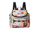 LeSportsac Small Edie Backpack (Snoopy Patchwork)